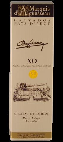 geschenkdoos met 1 fles Calvados Marquis d'Aguesseau