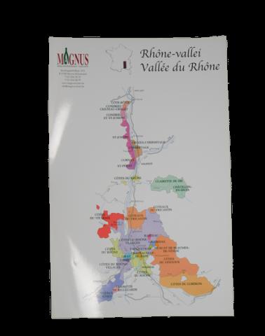 """Wijnkaart """"Rhône-vallei"""""""