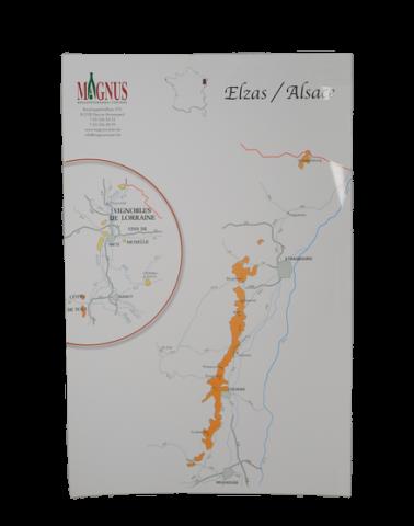 """Carte de vin """"Alsace"""""""