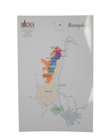 "Carte de vin ""Beaujolais"""