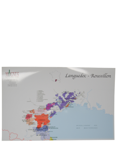 """Carte de vin """"Languedoc-Roussillon"""""""