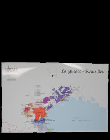 "Wijnkaart ""Languedoc-Roussillon"""