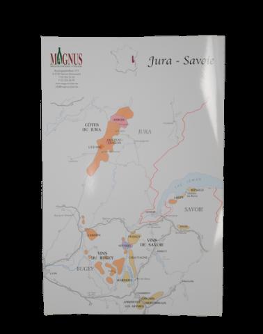 """Wijnkaart """"Jura-Savoie"""""""