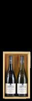 Caisse en bois pour 2 bouteilles 'Grands Vin de France'