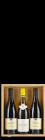 Houten kist voor 3 flessen met opdruk 'Grands Vins de France