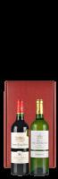 Bordeaux-rode geschenkdoos voor 2 flessen: