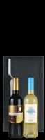 Zwarte geschenkdoos 'Magnus' voor 2 flessen: