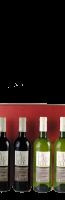 Bordeaux-rode geschenkdoos voor 4 flessen:
