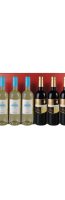 Bordeaux-rode geschenkdoos voor 6 flessen :