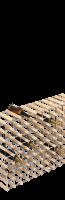 Flessenrek (te monteren) in hout en metaal voor 56 flessen
